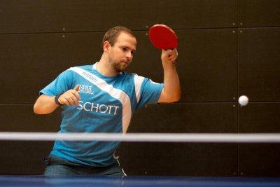 Mark Simpson war mit zwei Einzel- und einem Doppelsieg erfolgreichster Spieler seines Teams!