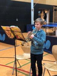 Ferdinand Kasperski überzeugt auch an der Trompete!