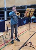 Ferdinand Kasperski kann nicht nur TT, sondern auch Trompete!