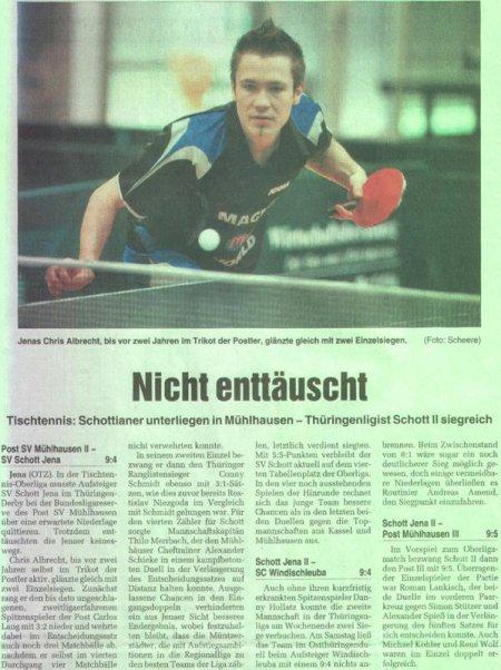Pressartikel zum Punktspielwochenende 31.10./01.11.2009