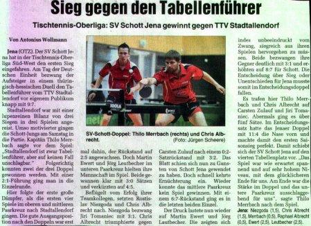 Presseartikel vom 03.10.2009